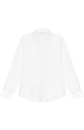 Детская хлопковая рубашка прямого кроя DAL LAGO белого цвета, арт. N402/7915/7-12 | Фото 2