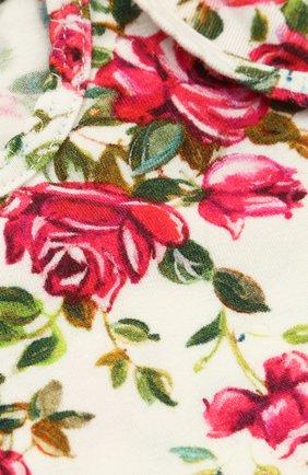 Хлопковый комплект из боди и нагрудника с принтом Dolce & Gabbana разноцветного цвета | Фото №6