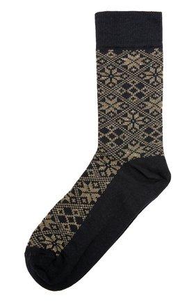 Хлопковые носки с принтом Royalties хаки | Фото №1