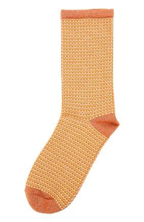 Хлопковые носки с принтом Royalties оранжевые | Фото №1