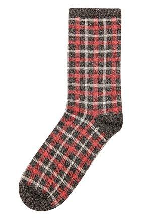 Хлопковые носки с принтом Royalties бордовые | Фото №1