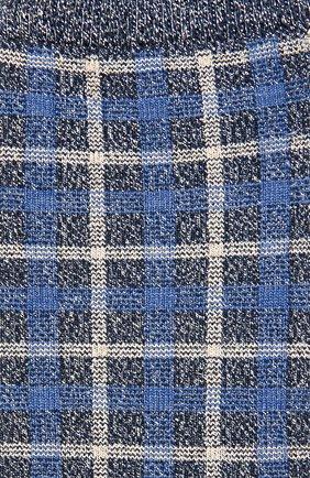 Хлопковые носки с принтом Royalties синие | Фото №1