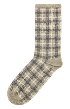 Хлопковые носки с принтом Royalties зеленые | Фото №1