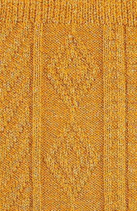 Хлопковые носки фактурной вязки Royalties оранжевые | Фото №1