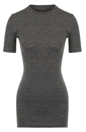 Удлиненная облегающая футболка | Фото №1