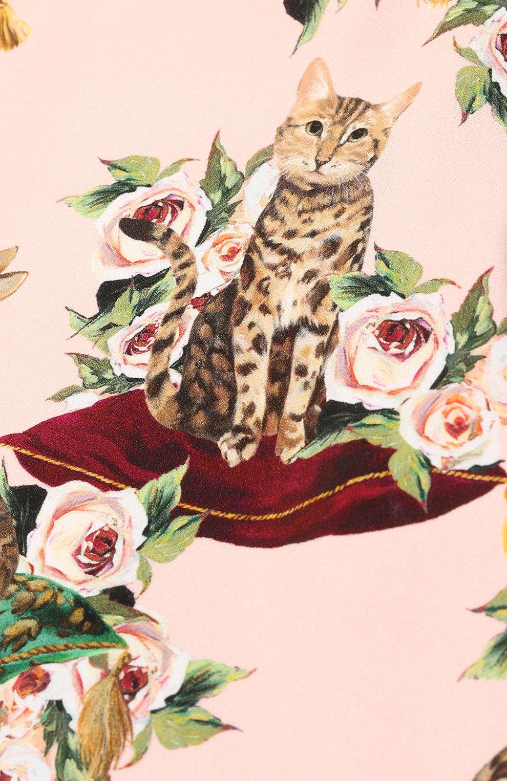 Комплект из платья с принтом и трусов Dolce & Gabbana розового цвета | Фото №3