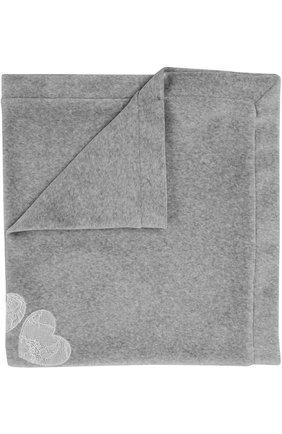 Детского одеяло из хлопка с кружевной отделкой ALETTA серого цвета, арт. RL777023CIN | Фото 1