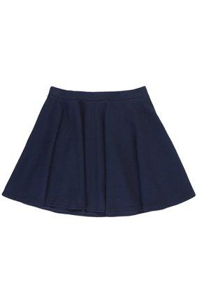 Хлопковая мини-юбка свободного кроя   Фото №2