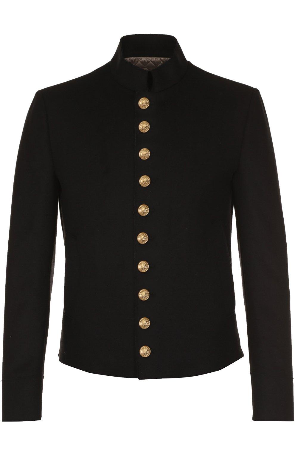 Шерстяная куртка с декоративно отделкой | Фото №1