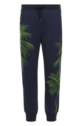 Хлопковые брюки с принтом Dolce & Gabbana разноцветные   Фото №1