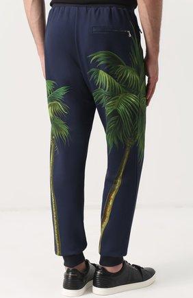 Хлопковые брюки с принтом Dolce & Gabbana разноцветные   Фото №4