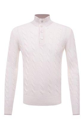 Мужской свитер из шерсти и кашемира GRAN SASSO белого цвета, арт. 23151/19672 | Фото 1