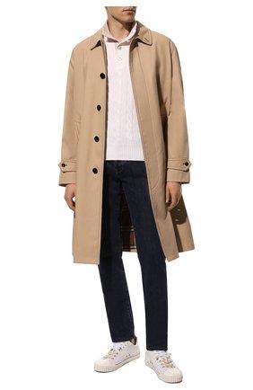 Мужской свитер из шерсти и кашемира GRAN SASSO белого цвета, арт. 23151/19672 | Фото 2