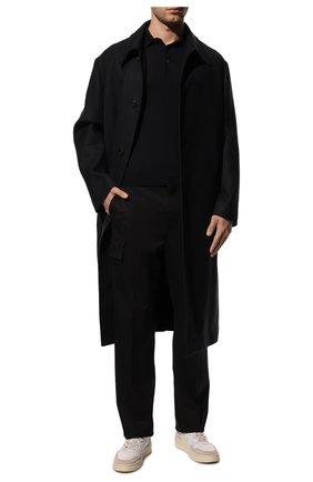 Мужское шерстяное поло GRAN SASSO темно-синего цвета, арт. 45132/14790 | Фото 2 (Рукава: Длинные; Материал внешний: Шерсть; Длина (для топов): Стандартные; Кросс-КТ: Трикотаж; Застежка: Пуговицы; Статус проверки: Проверена категория)