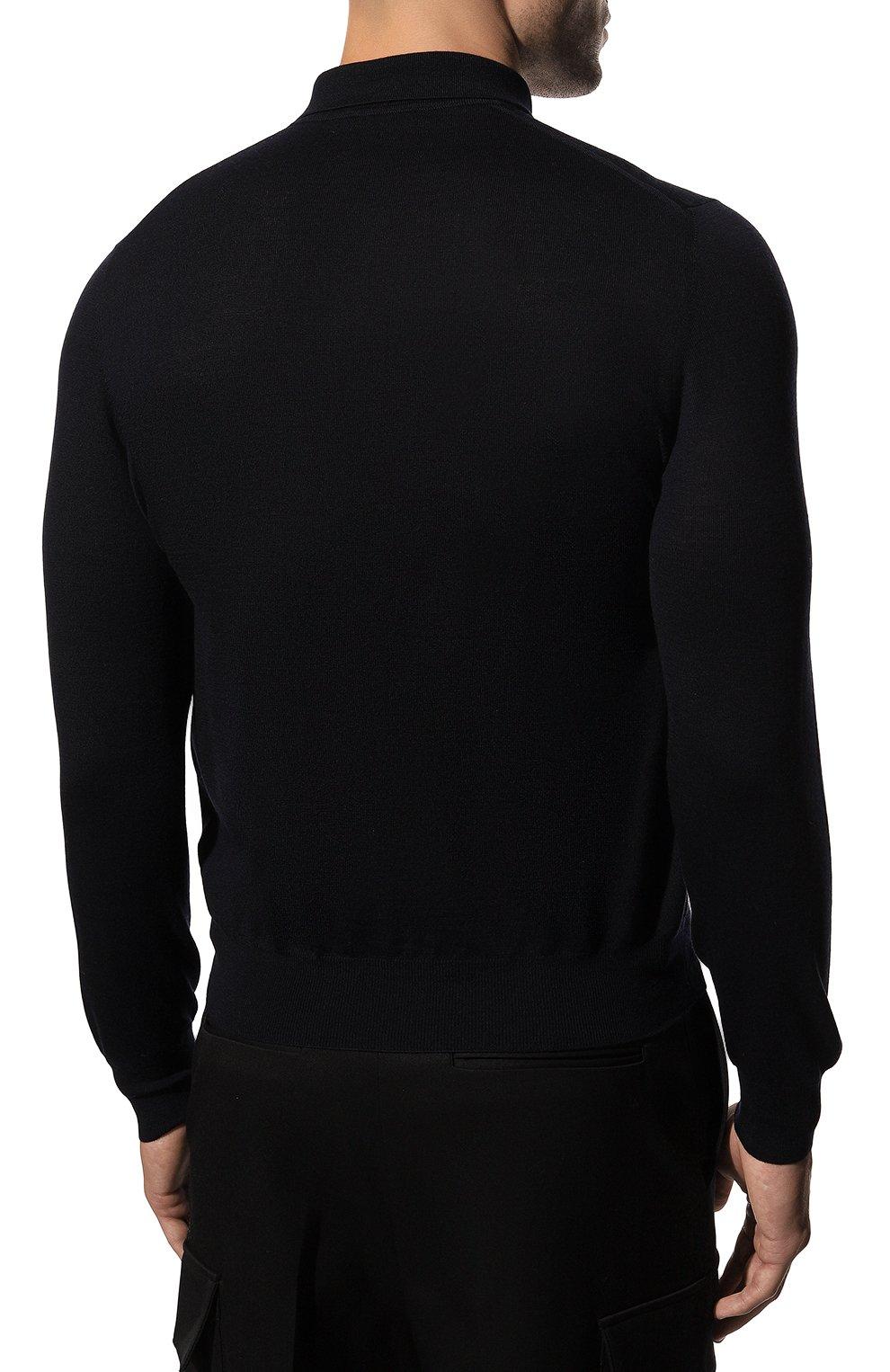 Мужское шерстяное поло GRAN SASSO темно-синего цвета, арт. 45132/14790 | Фото 4