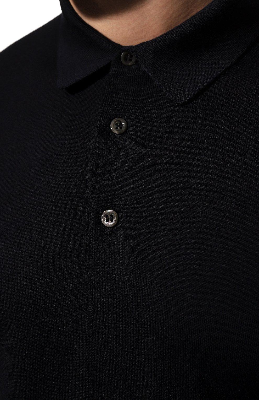 Мужское шерстяное поло GRAN SASSO темно-синего цвета, арт. 45132/14790 | Фото 5