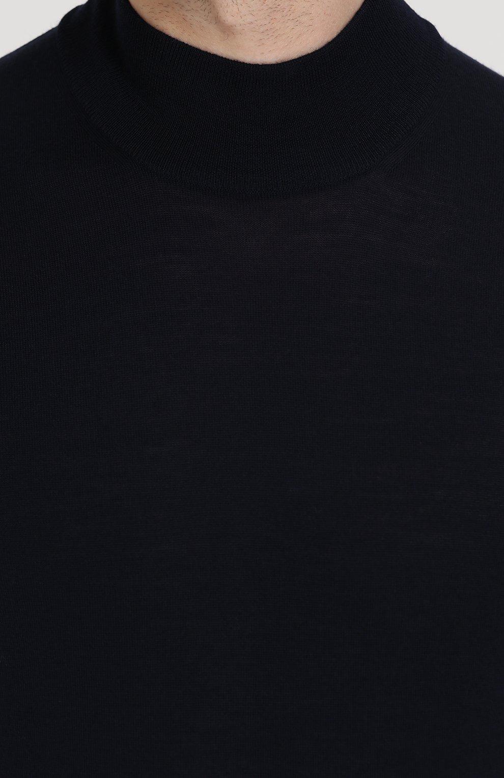 Однотонная шерстяная водолазка | Фото №5