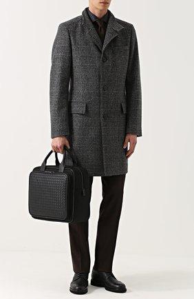 Текстильная дорожная сумка с кожаной отделкой | Фото №2
