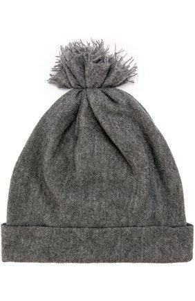 Кашемировая шапка с отворотом Balmuir темно-серого цвета | Фото №1