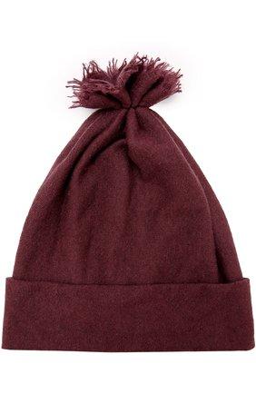 Кашемировая шапка с отворотом | Фото №1