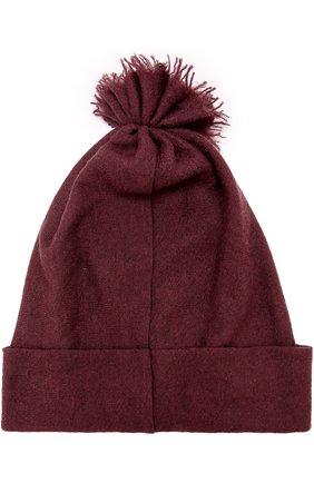 Кашемировая шапка с отворотом Balmuir темно-фиолетового цвета | Фото №1