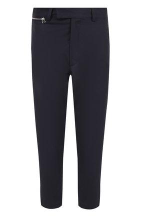 Укороченные шерстяные брюки прямого кроя | Фото №1