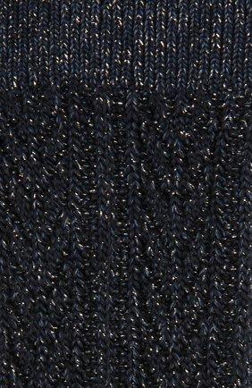 Носки фактурной вязки с металлизированной отделкой Royalties синие | Фото №1