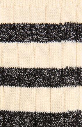 Носки фактурной вязки с металлизированной отделкой Royalties бежевые | Фото №1