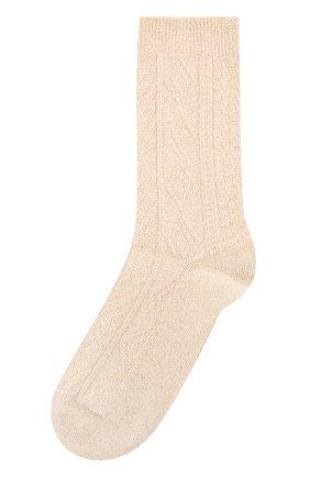 Носки фактурной вязки с металлизированной отделкой   Фото №1