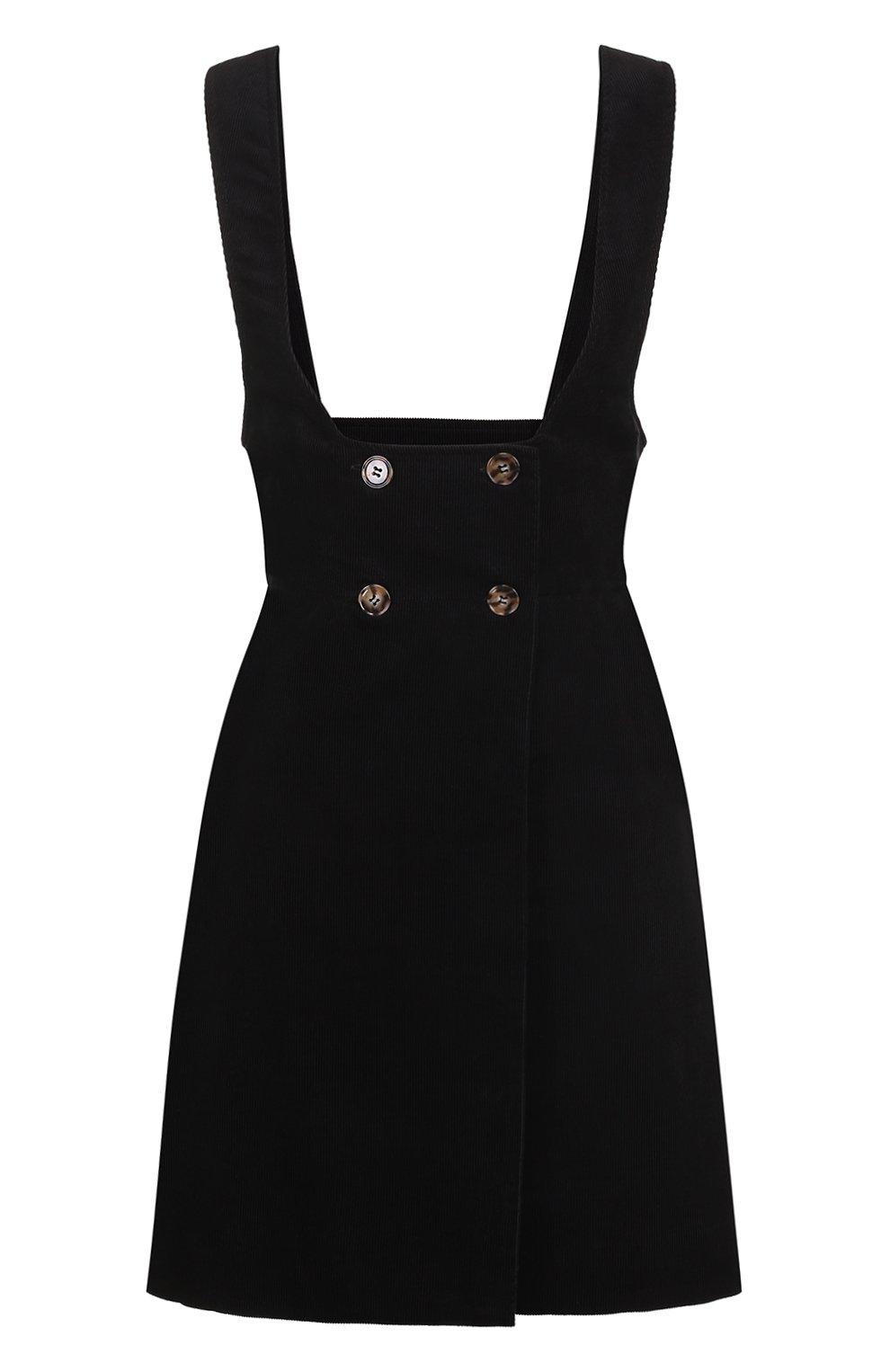 Женское черное вельветовый сарафан с широкими лямками ... - photo#23