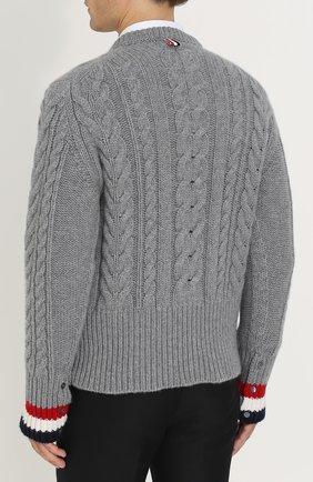 Кашемировый джемпер фактурной вязки | Фото №4