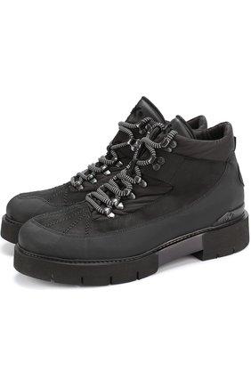 Комбинированные ботинки на шнуровке