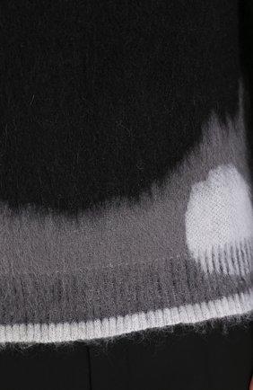 Вязаный джемпер с принтом | Фото №5