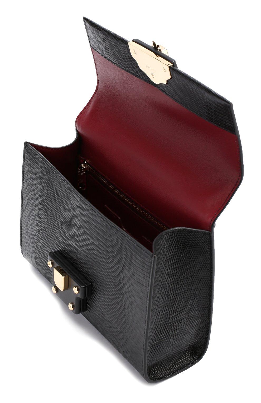 Сумка Lucia с тиснением Dolce & Gabbana черная цвета | Фото №4