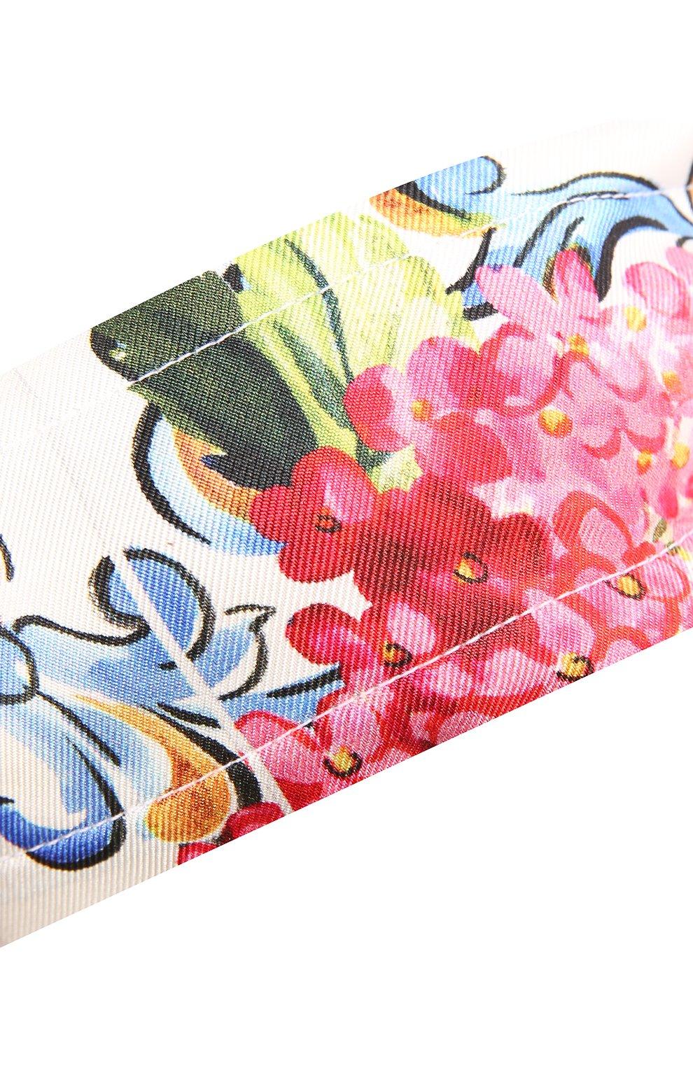 Шелковая повязка на голову с принтом Dolce & Gabbana разноцветного цвета | Фото №3