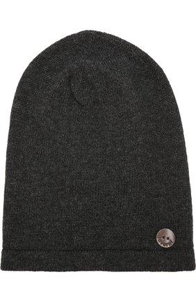 Кашемировая шапка бини Inverni темно-серого цвета   Фото №1