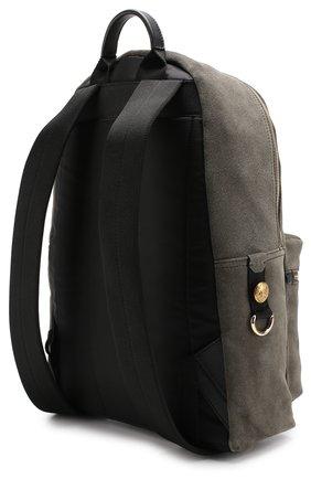 Замшевый рюкзак с внешним карманом на молнии Dolce & Gabbana хаки | Фото №3