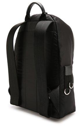 Текстильный рюкзак с нашивками и внешним карманом на молнии Dolce & Gabbana черный | Фото №3