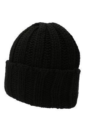 Мужская кашемировая шапка INVERNI черного цвета, арт. 2924CM   Фото 2
