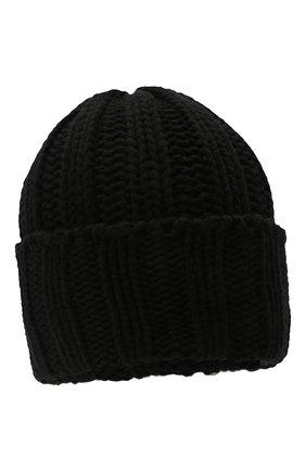 Кашемировая шапка фактурной вязки Inverni темно-серого цвета   Фото №1