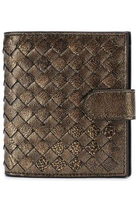 Женские кожаный кошелек с плетением intrecciato BOTTEGA VENETA золотого цвета, арт. 121059/VCLH1 | Фото 1
