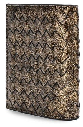 Женские кожаный кошелек с плетением intrecciato BOTTEGA VENETA золотого цвета, арт. 121059/VCLH1 | Фото 2