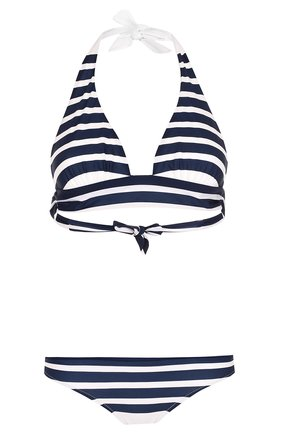 Раздельный купальник в полоску Dolce & Gabbana синий   Фото №1