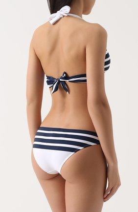 Раздельный купальник в полоску Dolce & Gabbana синий   Фото №3