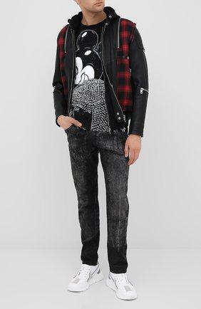 Мужская хлопковая футболка DOM REBEL черного цвета, арт. MICK/T-SHIRT | Фото 2