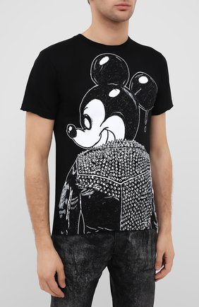 Мужская хлопковая футболка DOM REBEL черного цвета, арт. MICK/T-SHIRT | Фото 3