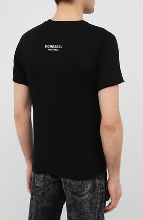 Мужская хлопковая футболка DOM REBEL черного цвета, арт. MICK/T-SHIRT | Фото 4