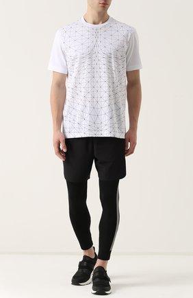 Хлопковая футболка с принтом BLACKBARRETT белая | Фото №1