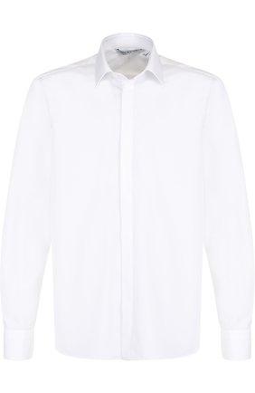 Хлопковая рубашка с принтом на спине