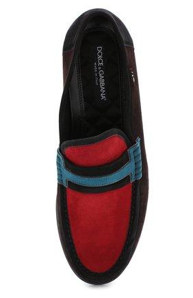 Замшевые лоферы Genova с контрастной отделкой Dolce & Gabbana разноцветные | Фото №5